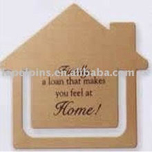 House Shape Brass Metal Bookmark