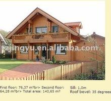 wooden frame villa