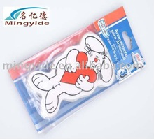 Animal shape car hanging air fresheners for promotion
