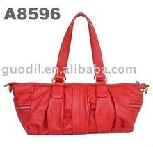 Hot selling Pleated Satchel fashion leather handbags summer 2012