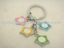 promotional alloy star clock key chain