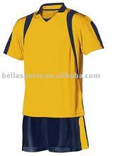 2012 cheap custom plain stylish Soccer uniform-Yellow navy