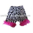 Zebra/hot pink Ruffle Cotton shorts/zebra shorts for Infant