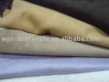 polyester brushed micro suede for sofa / polyester suede fabric for garments