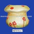 decorativos de cerámica de setas