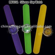 Fashion quartz silicone slap watch