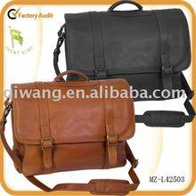 men's soft genuine leather briefcase