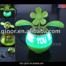 led flashing fan for car