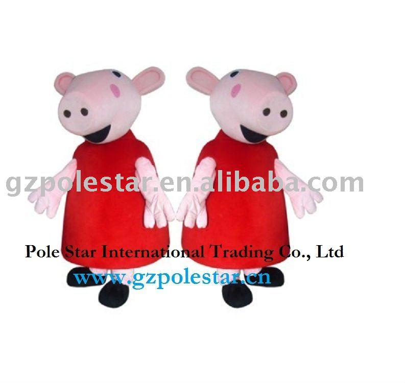 Traje da mascote traje dos desenhos animados peppa pig