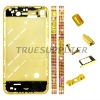Diamond middle plate housing faceplate for iphone 4