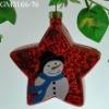 glass christmas tree hanging ornament