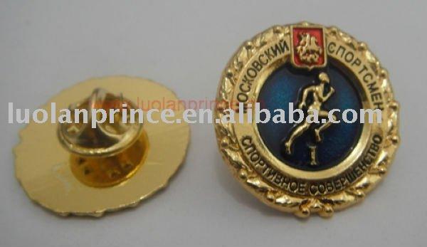 metal badge/color painted badge