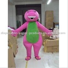 Barney Mascot Costume, Purple Barney the Dinosaur Adult Mascot Costume Xmas