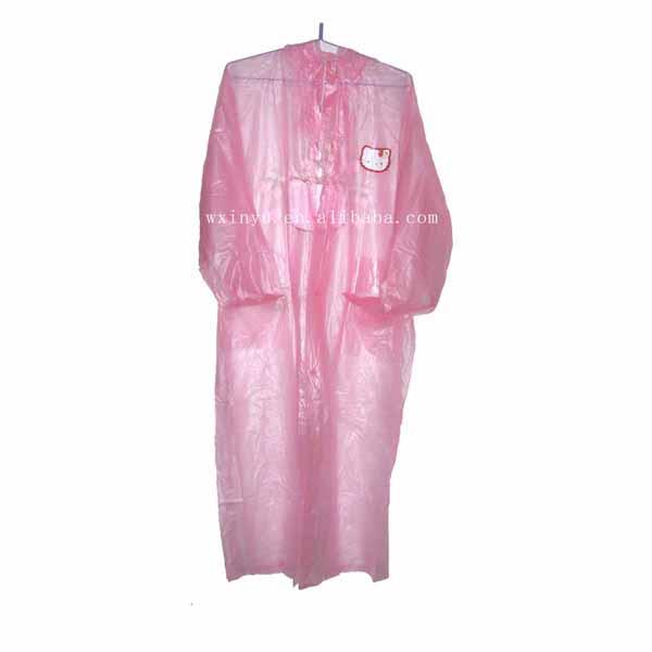 Adult plastic raincoats pink