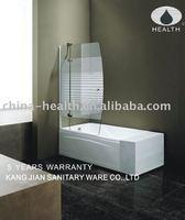 Glass bath shower screen JK 118
