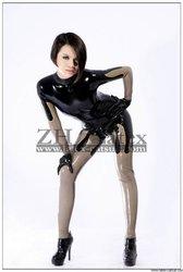 latex catsuit/zentai,100% handmade glued leather catsuit