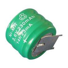 3.6V 230mAh nimh high temperature battery