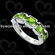 Fashion ring jewellery in 925 silver setting CZ stone jewelry