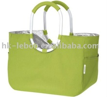 Tote shopping bag with aluminium alloy handle
