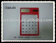 Transparent Solar touch Screen Desktop calculator