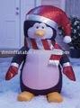 Pvc publicidade inflável dos desenhos animados pinguim