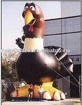 advertisement inflatable turkey cartoon