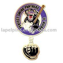 Perfect Swing Panthers Baseball Pin