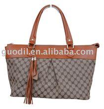 2011 SUMMER LATEST design fashion canvas lady handbag