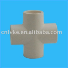 PVC/Plastic Pipe Fitting: Cross - SCH40