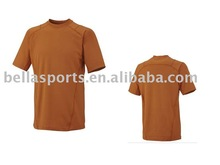2012 Single color Men's polyster newest cheap Athletic custom T shirt