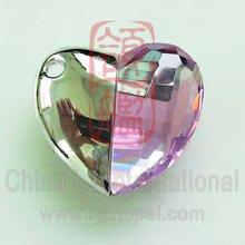 big crystal heart usb flash memory, rhinestone heart pendant usb drive, coloured glaze heart usb flash drive