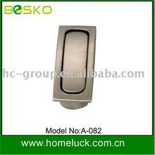 modern zinc alloy recessed drawer furniture handle