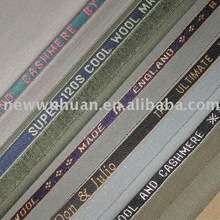 men's 2012 high of quality with selvedge suiting fabric for men's suit and trousers tr fabric