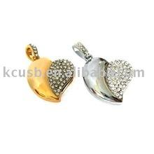 1gb heart shape jewelry usb data gift
