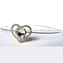 heart shape rhinestone tiara and headband