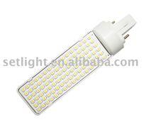 120 degree G24 bae led lamp/led light bulb/lamp socket(G24-96SMD)