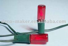 C4002, E12 Flame bulb / lamp light string, flat head.