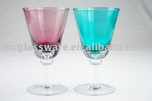 cone wine glass with newly developed shape