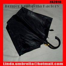 [FA2010]Big curve handle automatic open 2 folding umbrella