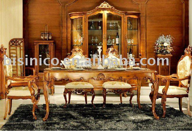 Conjunto Sala De Jantar Luxo ~ inglês conjunto de sala de jantar  luxo mobília da sala de jantar