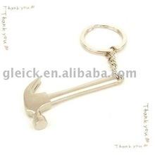 2012 Cute Mini Hammer Shape Zinc Alloy Keychain