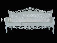 white wedding sofa with white pu leather