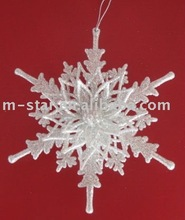 good quality snowflake christmas hanging decorations AB white