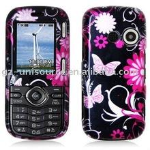 butterfly design crystal cellphone case for lx265 rumor2