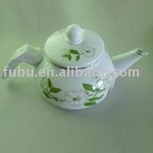 porcelain enamel teapot with single handle
