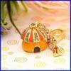 casa de encanto joyas llavero colgante de esmalte de moda colgante de oro de joyería