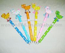 EN 71 standard animal wooden ballpoint pen (HAB124)