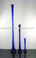 GLASS EIFFEL TOWER VASE ROYAL BLUE FOR WEDDING CENTERPIECE DECORATION