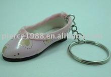 Lovely designed hand made women's shoe key ring dance shoe keychain