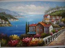 Landscape knife oil painting handmade